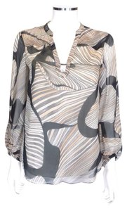 Diane von Furstenberg Silk Top Multi-Color