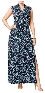 New Navy/ Turquoise Maxi Dress by Michael Kors