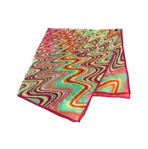 Missoni Multi-Color Abstract Print Square Scarf