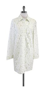 Diane von Furstenberg short dress White Lime Leandra on Tradesy