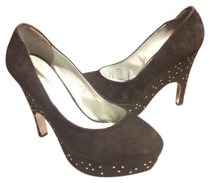 Halston Dark Brown/Gold Platforms