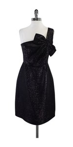 Kate Spade short dress Black Meatallic One Shoulder on Tradesy
