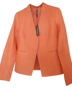Walter Baker Lambskin Leather Blazer Orange Color Size S Orange Blazer