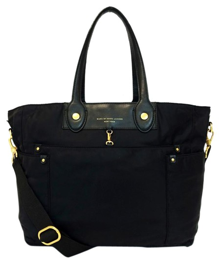 marc by marc jacobs black nylon preppy eliz a ba baby diaper bag tradesy. Black Bedroom Furniture Sets. Home Design Ideas