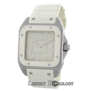 Cartier Authentic Ladies Cartier Santos 100 2878 W20122U2 Steel Automatic