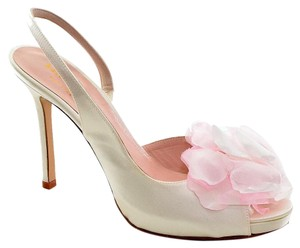 Kate Spade Camilla Satin Slingbacks Ivory Formal