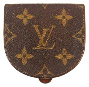 Louis Vuitton Porte-Monnaie Cuvette Monogram Coin Change Purse Wallet