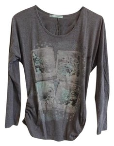 Maurices T Shirt Gray with sliver and mint details