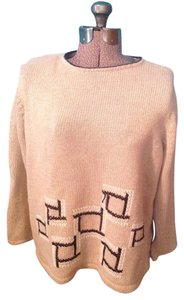 Crazy Horse by Liz Claiborne Squares Tan Sweater