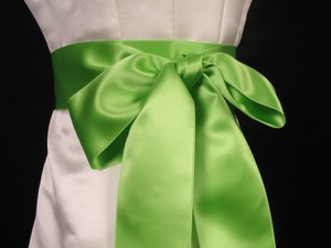 Lime Green Double Faced Satin Sash