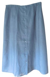 Talbots Linen Lined New With Tags Petite A-line Skirt Black