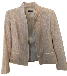 Tahari Cotton Wool Beige Blazer