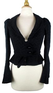 Betsey Johnson Peplum Black Blazer