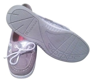 Sperry Gray silver Flats
