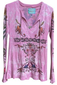 Butterfly Dropout Top Mauve/Pink with multi