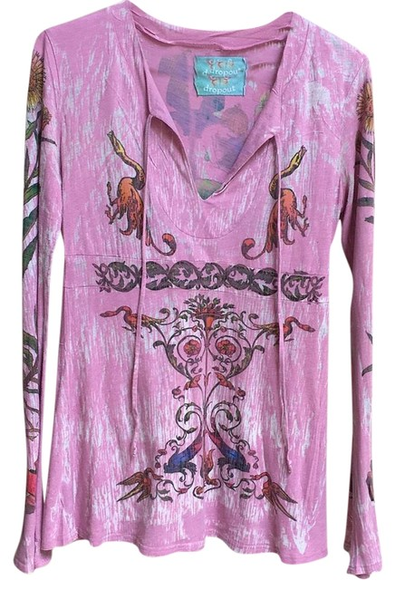 Item - Mauve/Pink with Multi Blouse Size 4 (S)