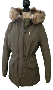 American Eagle Outfitters Parka Faux Fur Military Jacket