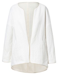 Zara Classic Boucle Celeb Blogger Modern Fashion Designer Blazer French Print White Jacket
