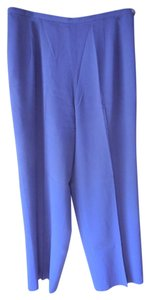 Talbots Petite Lined Flare Flare Pants Purple