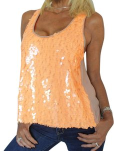 Ark & Co. Sequin Blouse Part Top orange