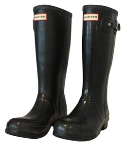 Hunter Black Matte Boots