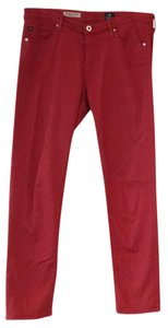 AG Adriano Goldschmied Capri/Cropped Pants Red