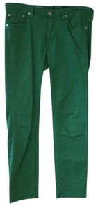 AG Adriano Goldschmied Capri/Cropped Pants Green
