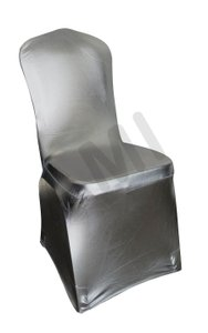 Universal Metallic Silver Chair Covers