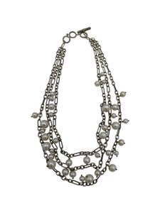 David Yurman David Yurman Triple Stand with Pearl Drops Necklace