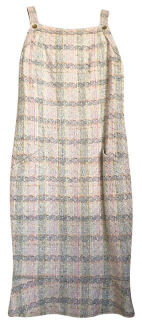 Chanel short dress Cream Pastel Tweed Multi Color Woven on Tradesy Image 1