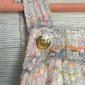 Chanel short dress Cream Pastel Tweed Multi Color Woven on Tradesy Image 3