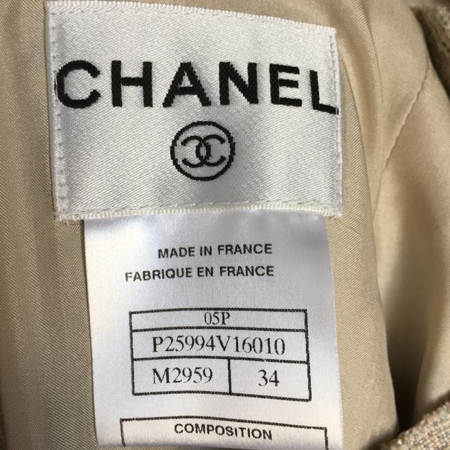 Chanel short dress Cream Pastel Tweed Multi Color Woven on Tradesy Image 4