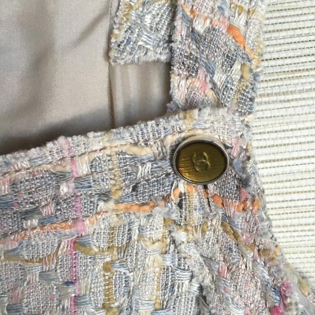 Chanel short dress Cream Pastel Tweed Multi Color Woven on Tradesy Image 8