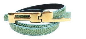 Ralph Lauren Green & Blue Genuine Lizard Leather Belt Size M