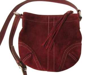 Coach Leather Maroon Red Cross Body Bag