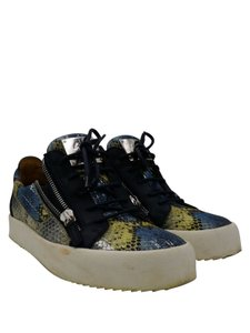 Giuseppe Zanotti Multi-color blue embossed leather snake print Athletic