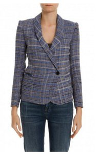 Isabel Marant Boho Lux Blue Tweed Blazer