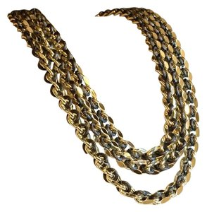Sarah Coventry Sarah Cov Coventry Oversized Multi Chain Ribbon Necklace