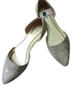Gap Cloth Metallic Beige Petnd Smoke Free Flats