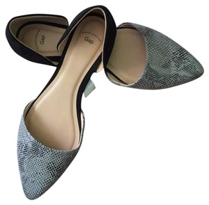 Gap Suede Gray Snakeskin and Black Suedelike Flats