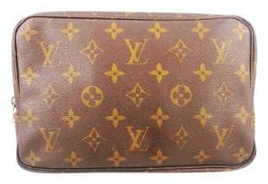 Louis Vuitton Trousse Toilette 23 Monogram Canvas Leather Travel Dopp Toiletry Bag