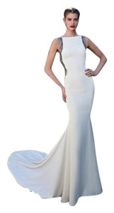 Tarik Ediz Pageant Gown Wedding Lace Train Dress