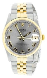 Rolex MEN'S ROLEX DATEJUST 2-TONE WITH SILVER DIAL