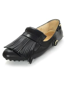 Tod's Leather Fringe Loafer Flats