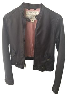 Abercrombie & Fitch Leather Brown Leather Jacket
