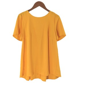MICHAEL Michael Kors Gold Hardware Pleated Short Top YELLOW