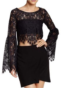 For Love & Lemons And Vika Lace Top black