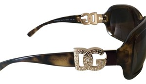 Dolce&Gabbana Dolce and Gabbana Logo Rhinstone Glasses in Tortoise