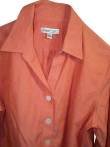 Coldwater Creek Button Down Shirt Peach