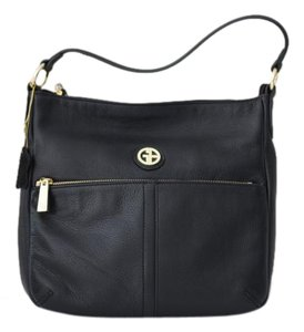 Giani Bernini Pebbled Zipper Hobo Bag